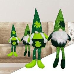 День Святого Патрика, ручная работа, Шведский Рождественский Санта-гном, плюшевая кукла, праздничные фигурки, игрушка 39x15 см, муньекас Куклы ...