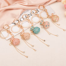 2020 New Fashion Lucky Bag Money Bag Crystal Keychain Girl Bag Pendant Car Pendant Creative Small Gift Rhinestone Heart Shaped(China)