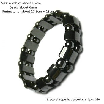 Natural Black Gallstone Magnetic Therapy Weight Loss Bracelet Fashionable Men and Women Retro Magnetic Magnet Hand String