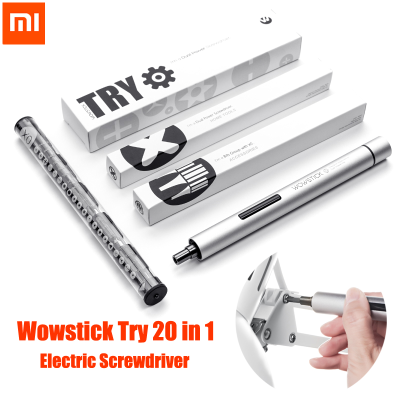New Original XIAOMI Mijia Wowstick Try 1P+ 20 In 1 Electric Screw Driver Cordless Power Work With Mi Home Smart Home Kit Product