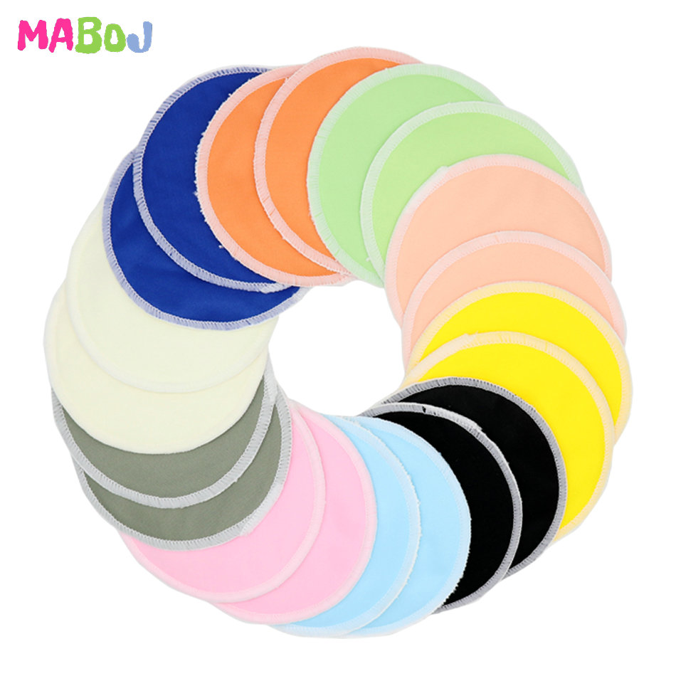 MABOJ Reusable Breast Pads Bamboo Nurse Organic Nursing Pads 10 Pairs For Mum Washable Waterproof Coton Reutilisable Pregnant
