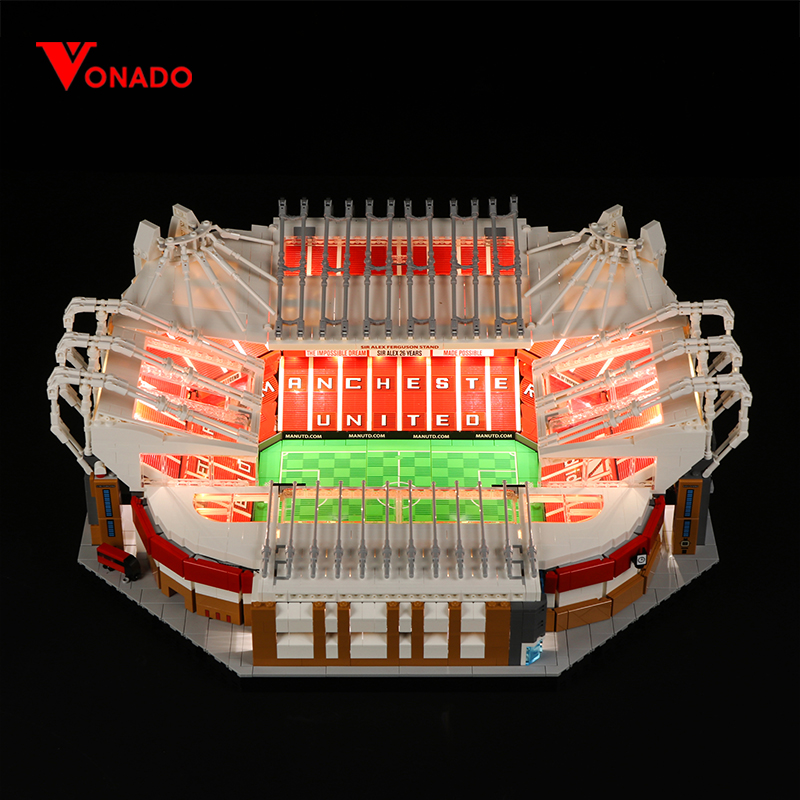 Vonado LED Light Compatible For Lego Architecture Block Old Trafford Football Field Toy Nou Camp Stadium Building Bricks Gifts