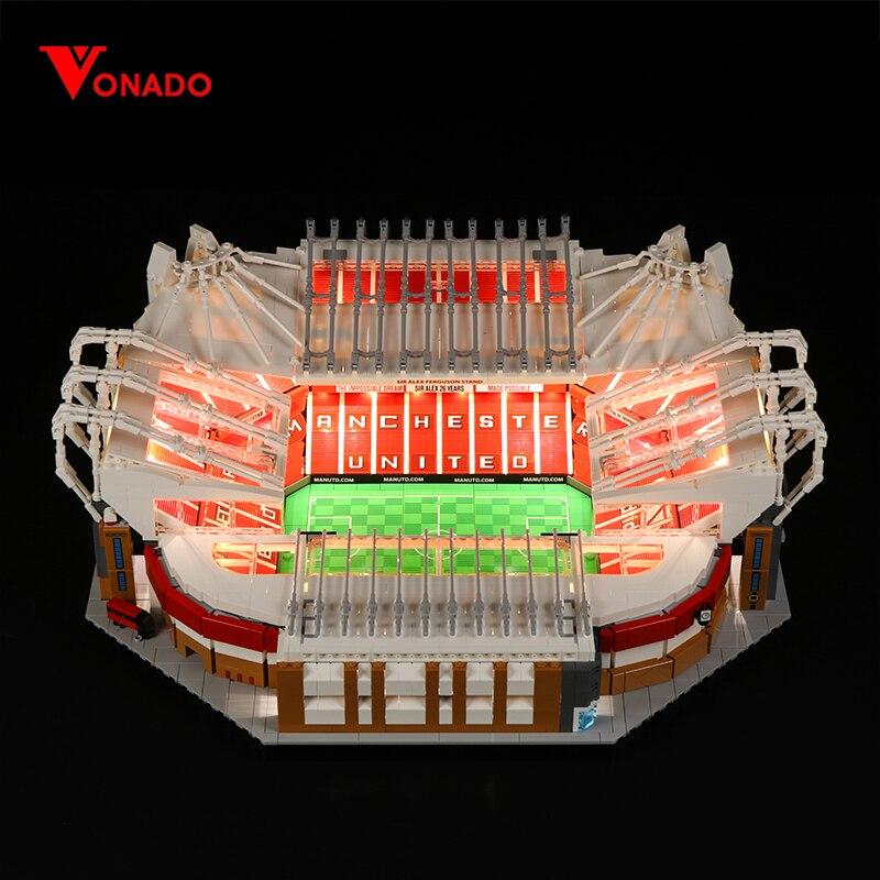 Vonado luz LED Compatible con Lego bloque de arquitectura Old Trafford, campo de fútbol de juguete estadio Camp Nou ladrillos de construcción regalos Bloques de construcción para niños pequeños brillantes 50 Uds. Bloques grandes para bebés juguetes educativos grandes para niños EVA juego de simulación juguetes de espuma