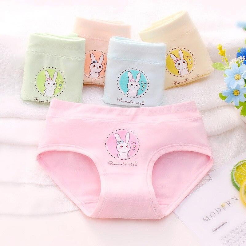 5pcs/set Cotton Triangle Brief Girl Panties Princess Lovely Cartoon Print Children Underwear For Girls Kid Clothes Baby Panties