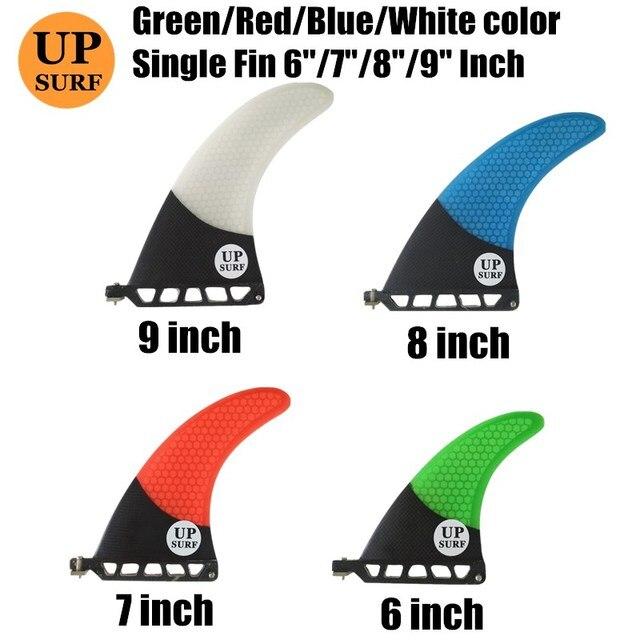 "9 inch firberglass carbon single fin 6""7""8"" surfboard sup fin longboard fin 8"