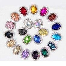 2016new 100 pçs oval costura de vidro em strass botões para decorações de vestido de casamento ou diy cabelo accessioress nt02