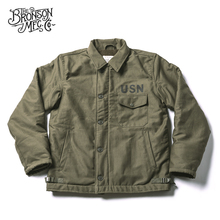 Bronson USN A 2 Deck Jacket Jungle Cloth Vintage Cold Weather Military Unifrom