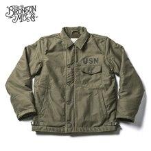 Bronson USN A 2 데크 자켓 정글 천 빈티지 추운 날씨 군사 Unifrom