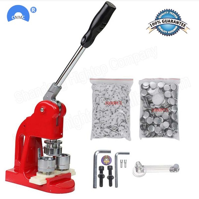 37MM Badge Punch Press Maker Machine With 1000 Circle Button Parts+Circle Cutter for sale