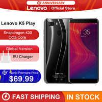 """Versión Global Lenovo K5 jugar 3GB 32GB Snapdragon 430 Octa Core Smartphone 1,4G 5,7 """"18:9 huella digital Android 8 13.0MP Cámara"""