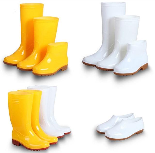 Velvet Rain Shoes High Tube Beef Tendons Bottom Food Kitchen Water Boots Non-skid Wear-resistant Men's Waterproof Rain Boots
