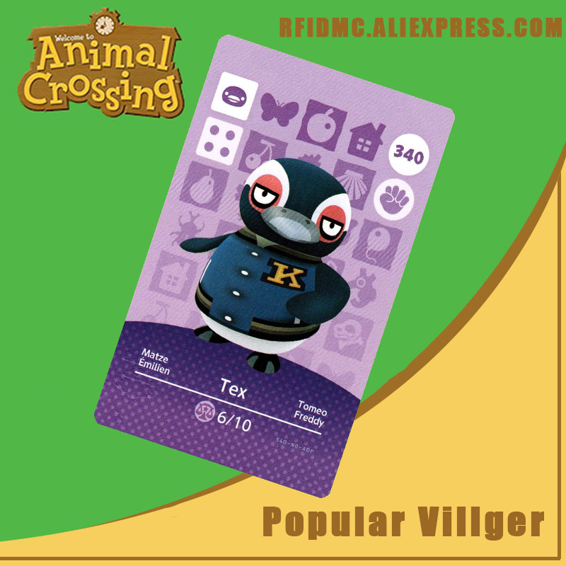 340 Tex Animal Crossing Card Amiibo For New Horizons