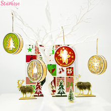 Staraise Wooden Light Pendant Christmas Decoration For Home Tree Decor 2019 Navidad Natal Ornament Craft Party