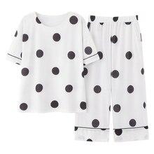 100% Cotton Pajamas Women Pijama Sleepwear Female Pajamas Sets Summer Female Suit Short Sleeve Pyjamas Women Home Clothes