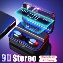 TWS 5.0 Bluetooth 9D Stereo Earphone Wireless Headphone IPX7 Waterproof Earbuds