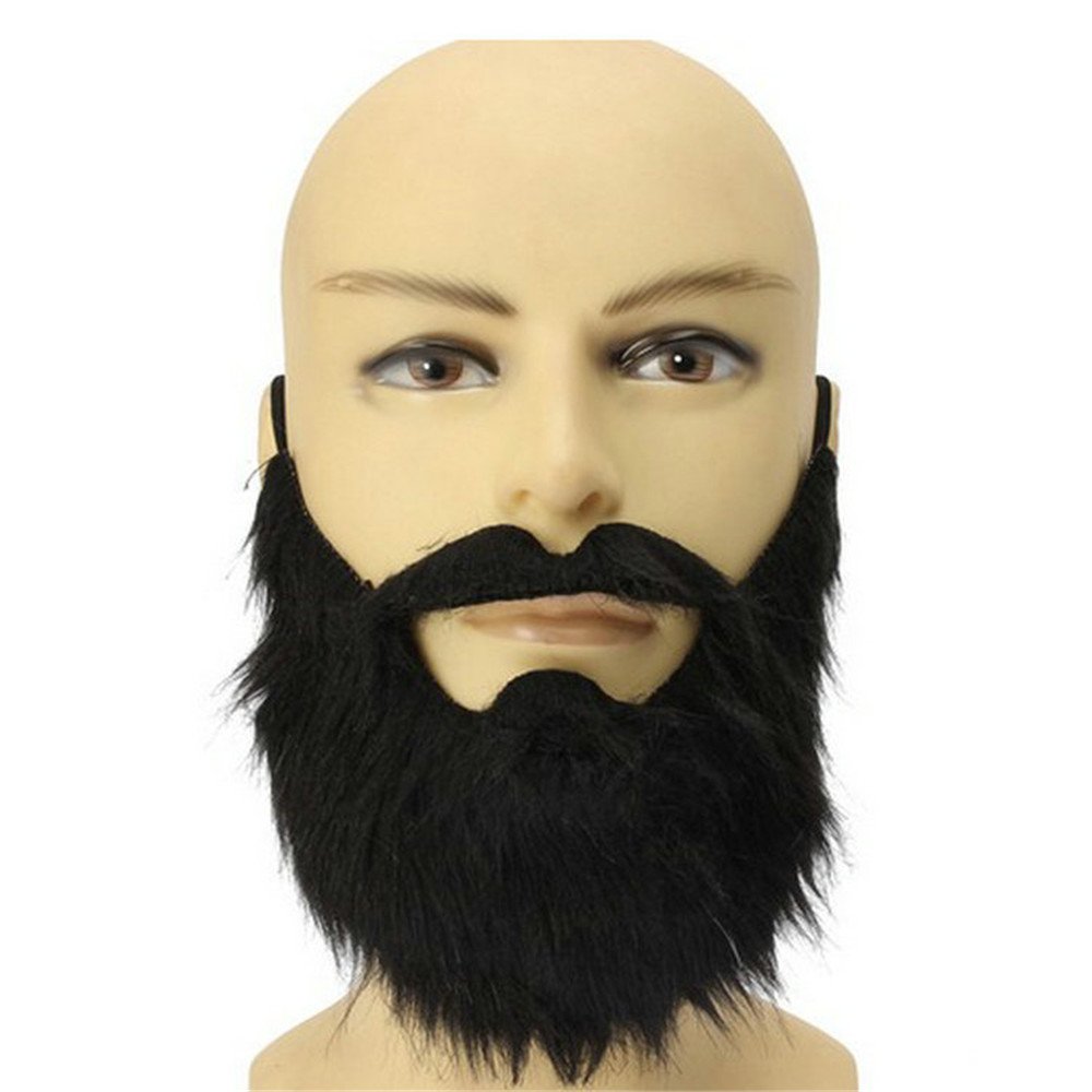 Funny Fake Mustache Photo Booth Props Fake Beard Cosplay Party Beards Whisker For Kids Adult Party Decorations(China)