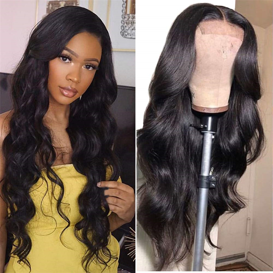 Liddy 4*4 Body Wave 100% Human Hair Wigs Lace Closure Human Hair Wigs For Black Women Non-remy Natural Color 150% Density Wigs
