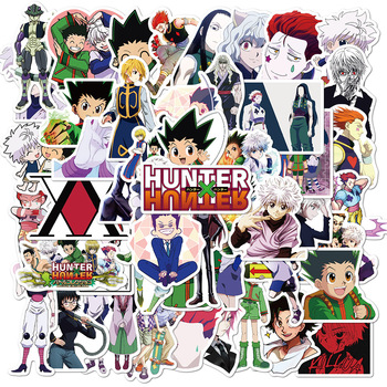50Pcs Pack Cool Hunter x Anime Stickers Waterproof DIY Laptop Skateboard Luggage Cartoon Toy Decal For Children - discount item  35% OFF Classic Toys