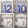 2006 zidane henry nameset casa longe personalizar qualquer nome número impressão remendo de futebol