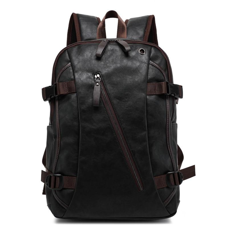 Vintage Anti-vol sac à dos hommes cahier sac hommes en cuir sacs à dos d'ordinateur portable pour sac d'école mâle étanche voyage sac à dos mochila