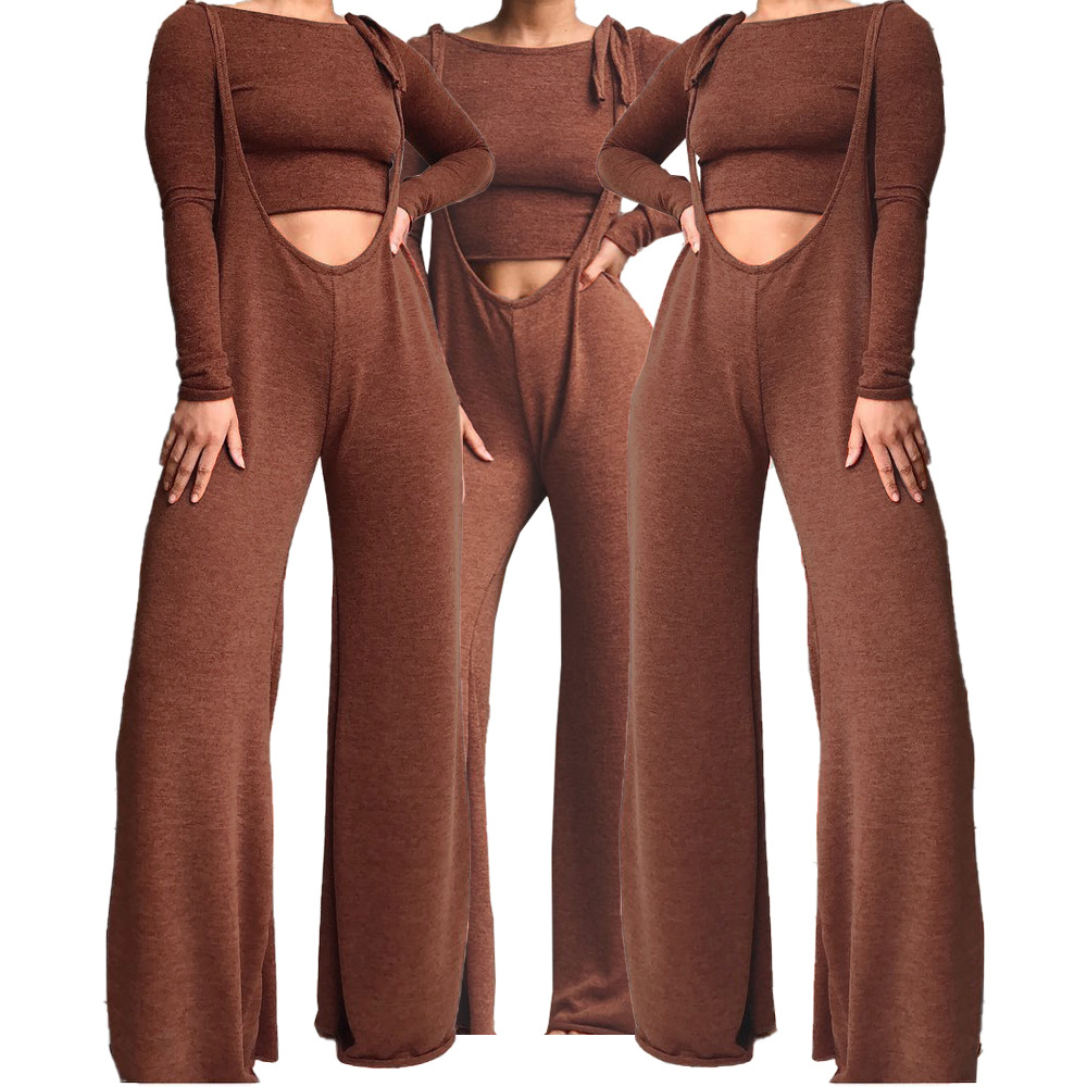 Fashion Solid Color Pants Set Two Sets Of Women's Luxury Clothing Luxury Women's Tights Elegant Ladies Pants Sexy Nightclub Wear