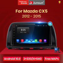 Автомагнитола Junsun V1 pro 2G + 128G Android 10 для Mazda CX5 CX-5 CX 5 2012-2015, мультимедийный видеоплеер, навигация GPS, 2 din, dvd