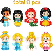 5D DIY Diamond Painting Stickers Kits for Kids, Princess Theme Stick Paint with Diamonds by Number Kit Easy to DIY, Art Craft