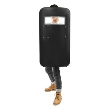 Blcak Shield PC, plástico militar, táctico antimotín, protección de mano, antimotín escudo de seguridad, herramienta de defensa personal