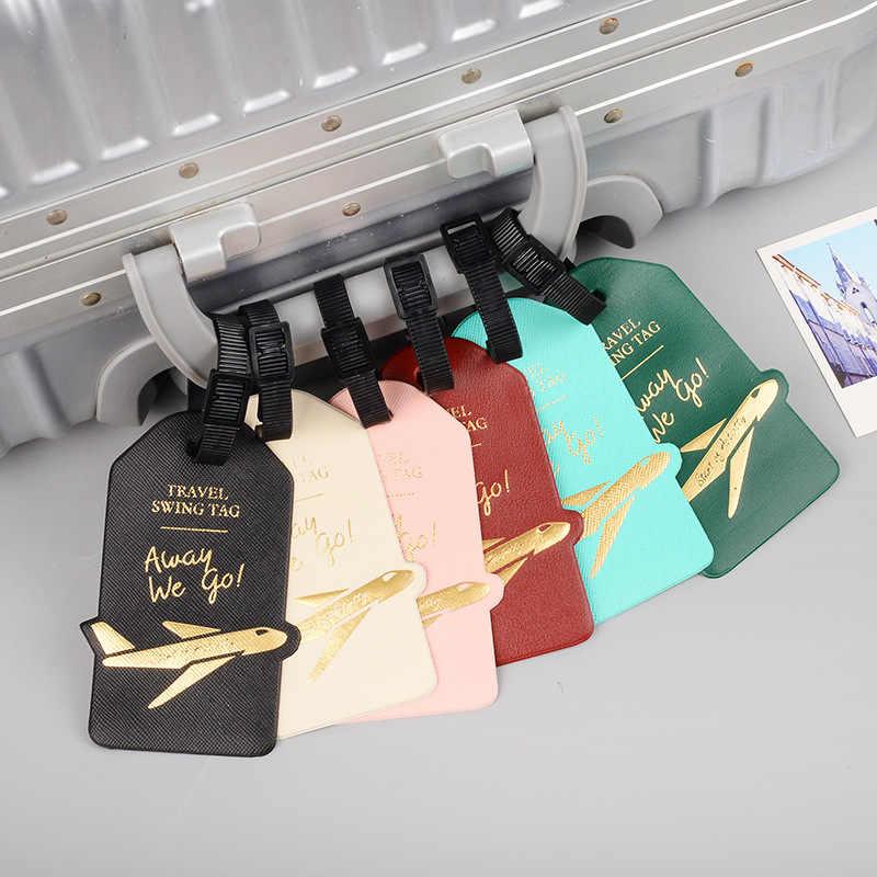อุปกรณ์เสริม Creative เครื่องบิน PU หนังกระเป๋าเดินทางผู้หญิงผู้ชายแบบพกพากระเป๋าเดินทาง ID ที่อยู่ Holder Baggage Boarding