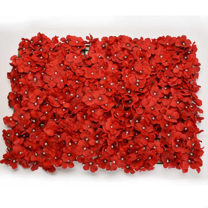 Fałszywe sztuczne kwiaty hortensji bukiet ślubny dekoracyjny wieniec rzemiosło 60*40cm