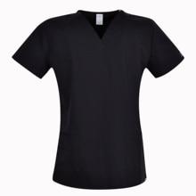 Marca esfrega esfrega topos para as mulheres esfrega esfrega, esfrega uniforme em 100% imprimir sólido preto elástico algodão