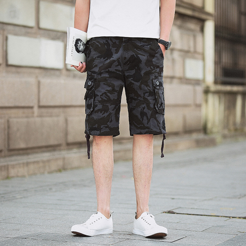 Export Europe And America Summer Camouflage Pants MEN'S Middle Pants Workwear Beach Shorts Multi-pockets Sports Shorts
