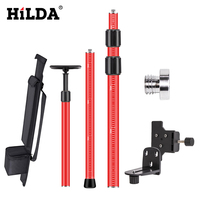 """Hilda laser telescópica pólo estender suporte de nível a laser com 1/4 """"e 5/8"""" adaptador para montagem teto haste nivelamento 2.8 m/4 m Níveis de laser     -"""