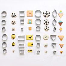 Ceramiczne narzędzia ceramiki ze stali nierdzewnej geometria okrągły plac gliny Cutter projektant DIY Craft Craft cięcia formy 2-4cm 24 sztuk/partia