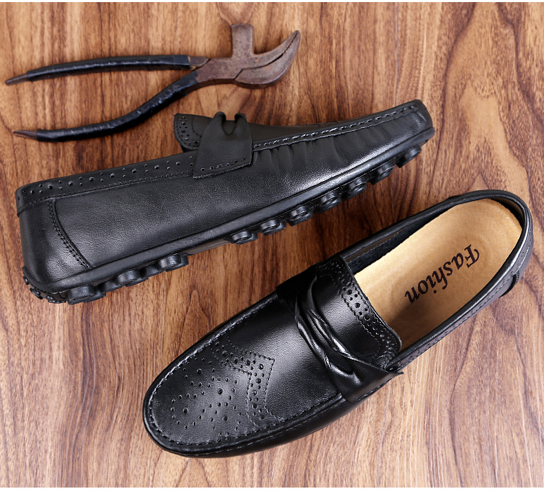 He03c3d2e172e49e79a933e66e996eaa9m Men Loafers Shoes Genuine Leather Casual Sneakers Male Fashion Carved Boat Footwear Soft Dress Party Shoes Men Chaussure Homme