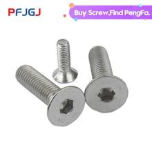 цена на Peng Fa 201 stainless steel countersunk head inner hexagonal screw DIN7991 flat head inner hexagonal screw flat cup screw M3-M10