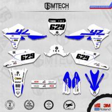 DSMTECH графика команды на заказ Фоны наклейки 3m наклейки на заказ для 14-18 YZ250F 15-19 YZ250FX WRF250 14-17 YZ450F 021