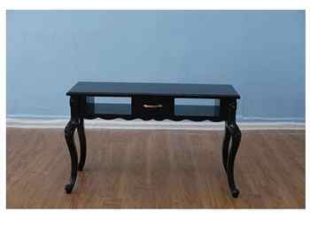 Black manicure table and chair set single double three person glass manicure table economical manicure shop manicure table