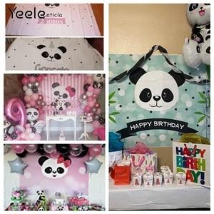 Image 5 - Yeele Cartoon Panda Polka Dots Baby Birthday Party sfondi per fotografia sfondo fotografico personalizzato per Studio fotografico