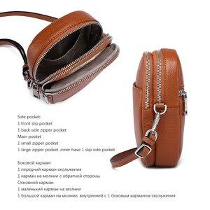 Image 5 - NEVEROUT из натуральной кожи сумка для мобильного телефона через плечо для Для женщин Дамская хозяйственная сумка через плечо деньги сумка с длинным ремнем