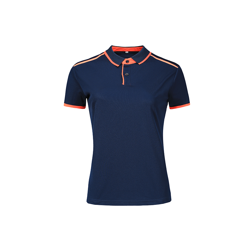 Polo shirts for women custom outdoor sports lapel T-shirts embroidered logo running speed dry outdoor tops 4