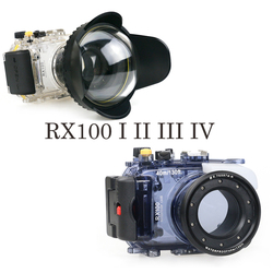 40m/130ft Waterproof Case for Sony RX100 Mark I II III IV DSC-RX100 M1 M2 M3 M4 underwater camera housing diving box cover