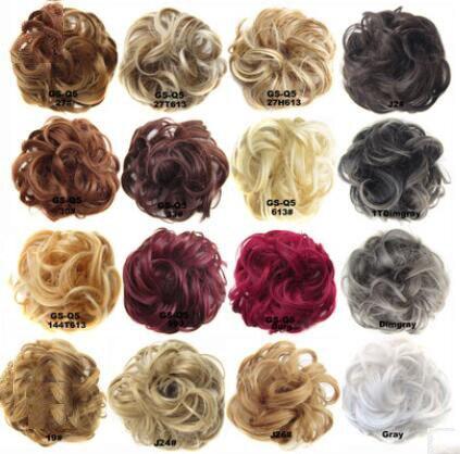 Hot Sale Women Baby Girls Real as Human Natural Curly Messy Bun Hair Piece Scrunchie Fake Hair Extensions   Headwear   Headband New