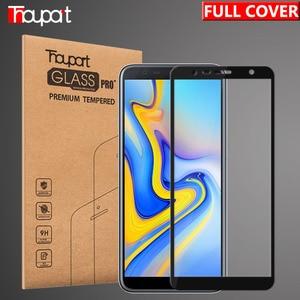 Image 1 - Cristal templado 5D para Samsung Galaxy A7 J4 J6 + J8 A6 A8 2018 Protector de pantalla de vidrio completo para Samsung A6 A8 J4 J6 Plus 2018