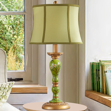 Modern Thailand Home Decor Table Lamp Chinese Classical Lamp Retro Fabric Resin Bedside Lamp Table Lights Bedroom art Desk Lamp
