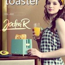 Tostadora eléctrica de acero inoxidable para tortas, emparedado tostado, horno Grill, 2 rebanadas, máquina automática para hornear el desayuno, UE