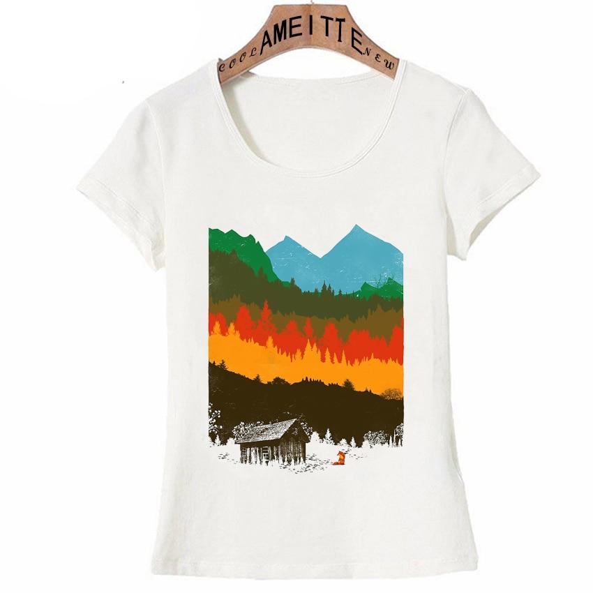 Printed T-Shirt,Vintage Ornate Nature Fashion Personality Customization