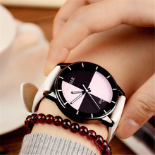Creative Color Block Womens Watch Luxury New Pink Casual Leather Strap Quartz Wrist Watches Women Clock relogio feminino montre