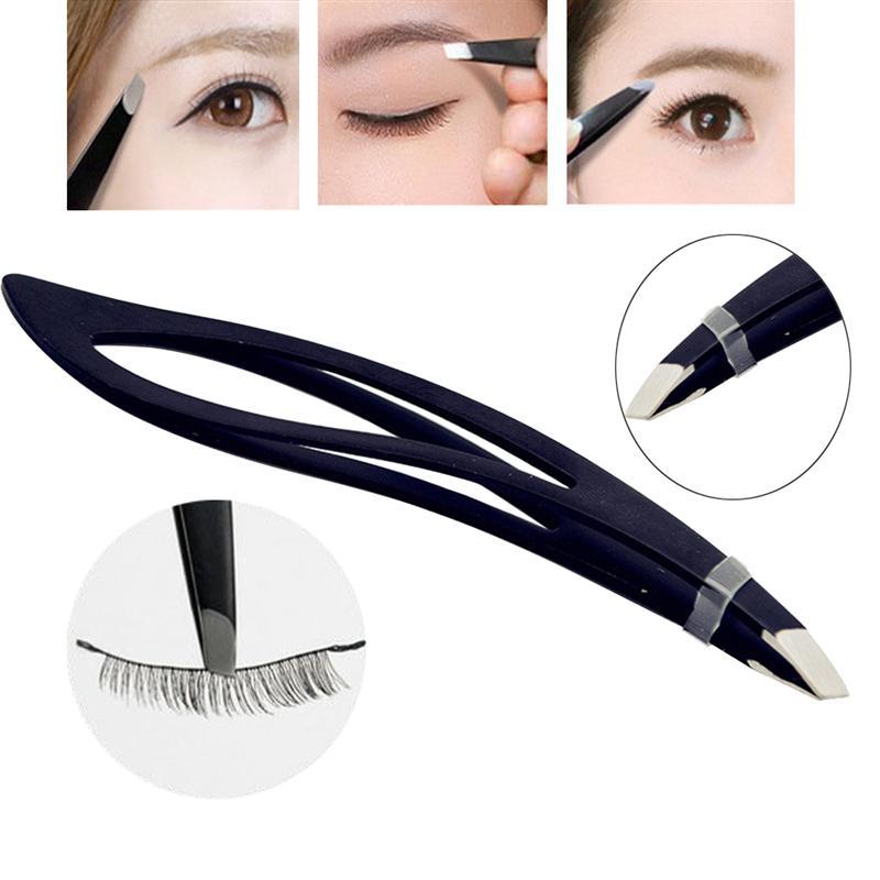 tijeras para cejas para hombres y mujeres puntas de precisi/ón para el pelo Juego de 4 pinzas pesta/ñas falsas pinzas para cejas