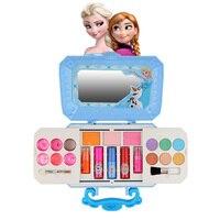 Дисней Принцесса Холодное сердце 2 Эльза Анна девушки макияж косметика игровой ящик набор kidsToy губная помада тени для век безопасные модные ...